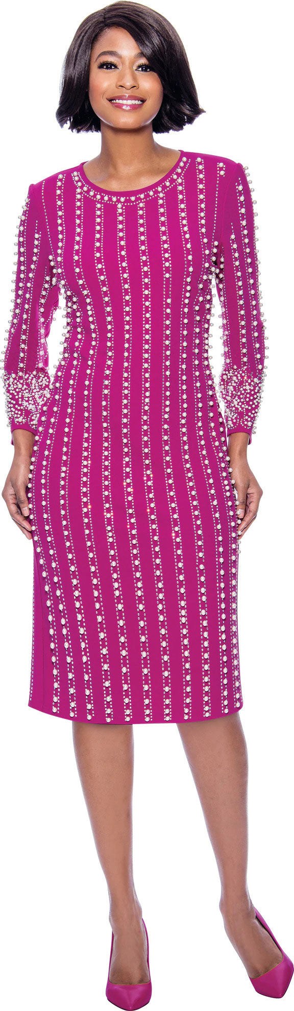 Susanna Dress 3961-Magenta - Church Suits For Less