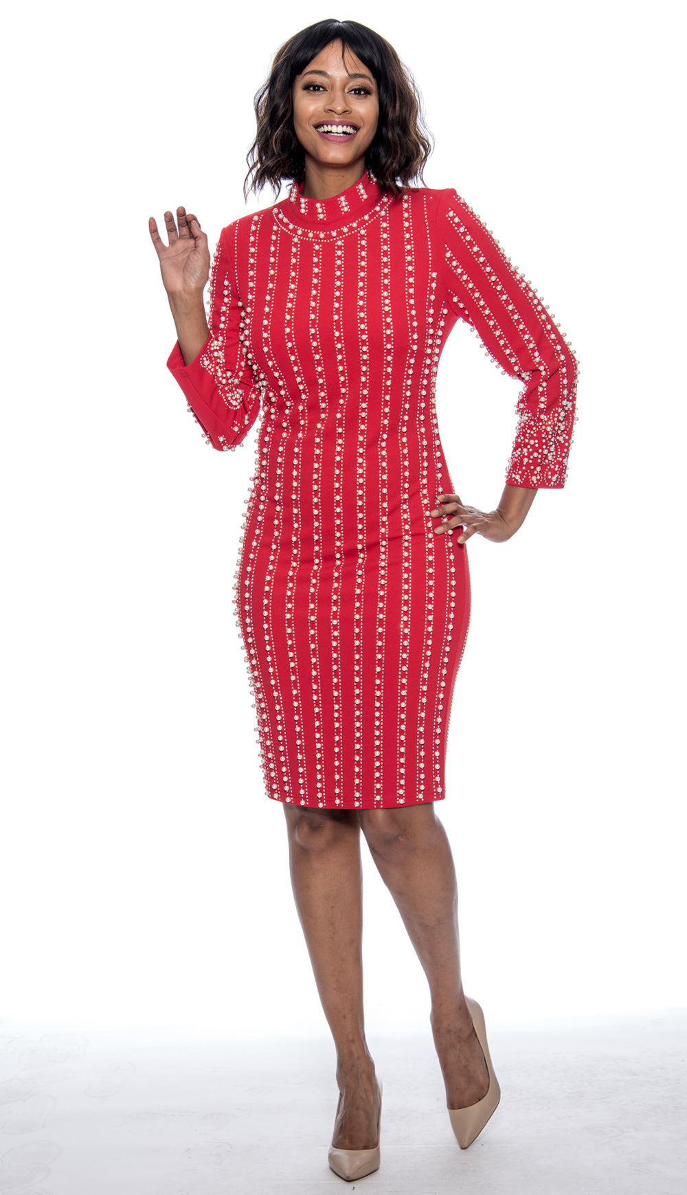 Susanna Dress 3924-Red - Church Suits For Less