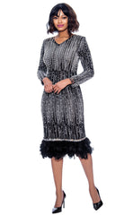 Susanna Dress 3978C-Black - Church Suits For Less