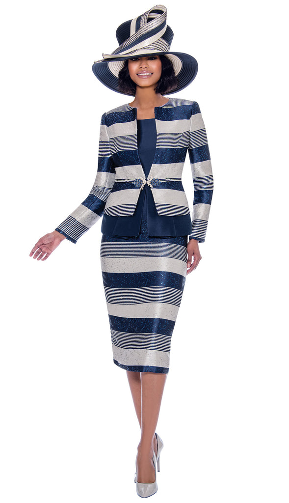Susanna Suit 3927-Navy - Church Suits For Less