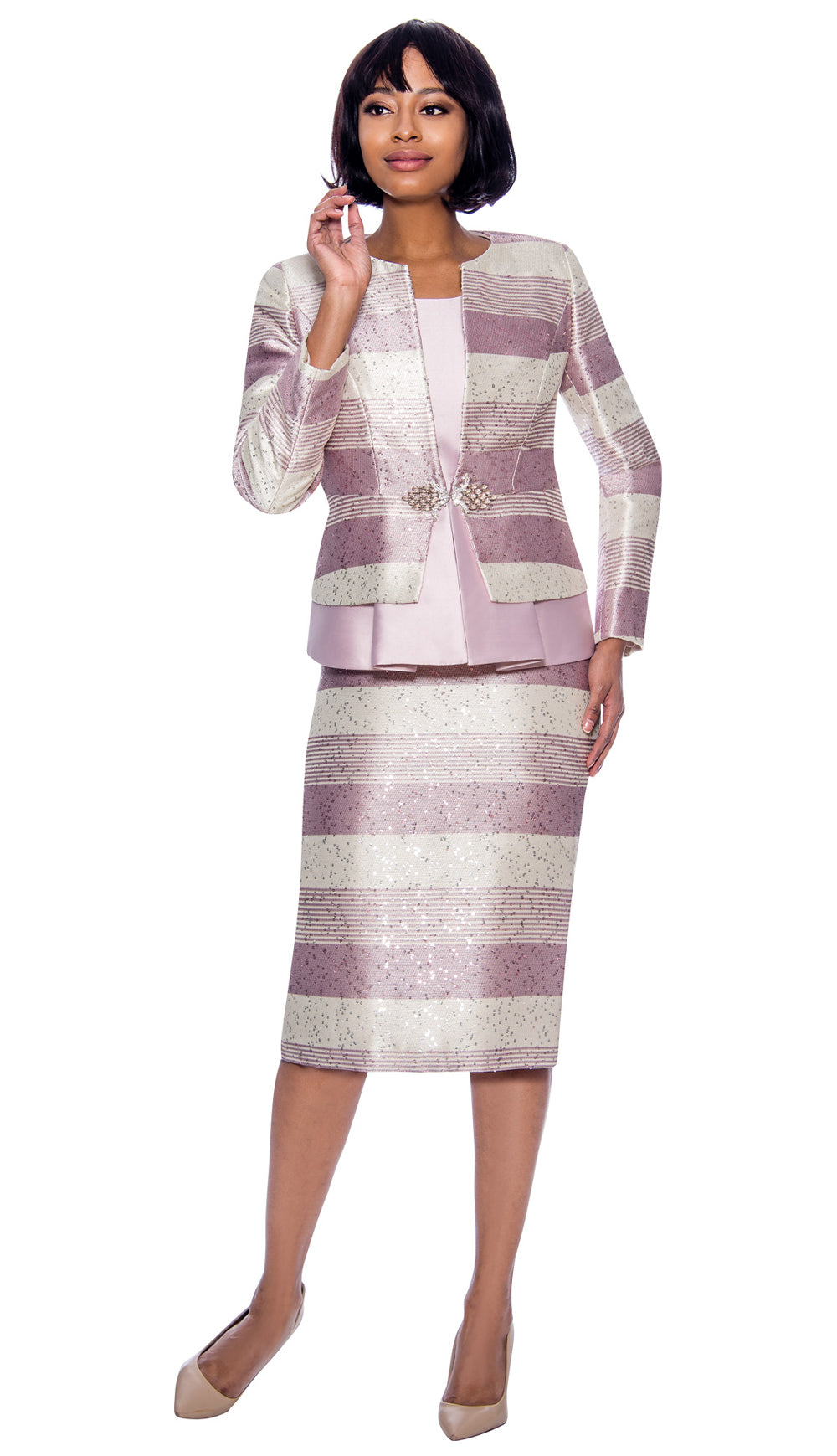 Susanna Suit 3927-Mauve - Church Suits For Less