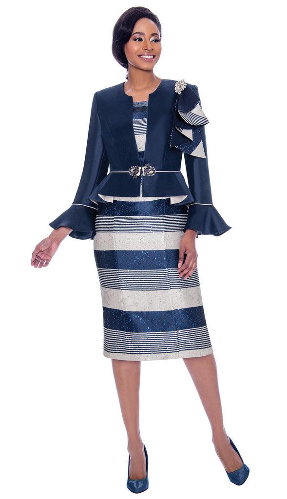 Susanna Suit 3930-Navy - Church Suits For Less