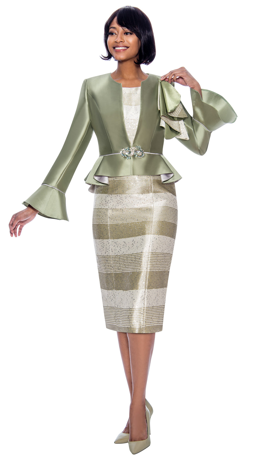 Susanna Suit 3930-Sage - Church Suits For Less