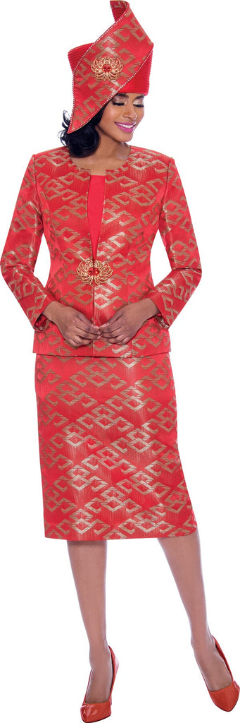 Susanna Suit 3932-Red - Church Suits For Less