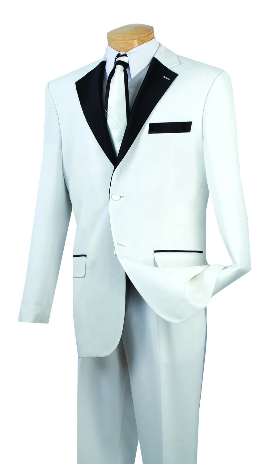 Vinci Tuxedo T-2FF-White - Church Suits For Less