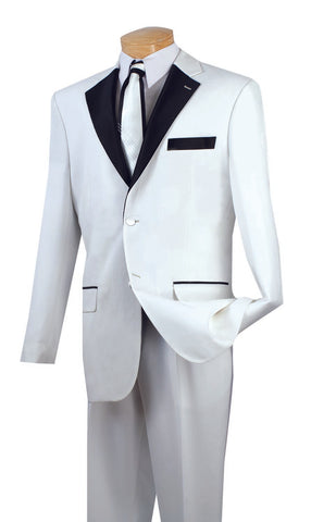 Men Tuxedo T-2FF-White - Church Suits For Less