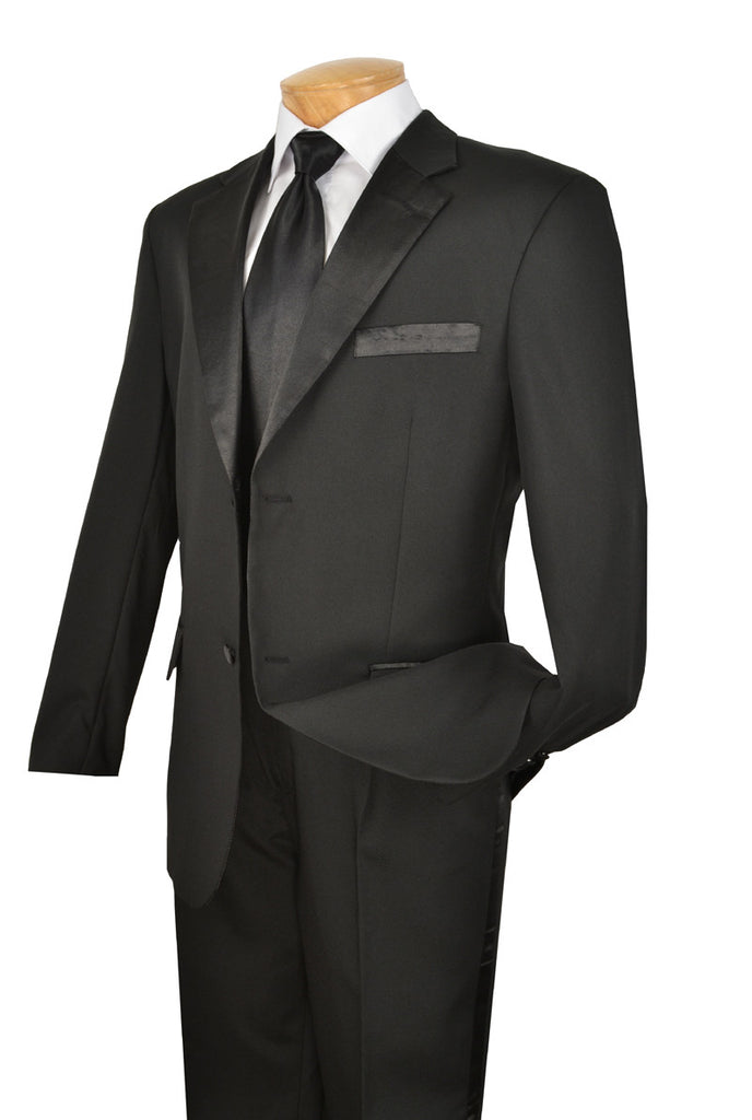 Vinci Tuxedo T-2PP-Black - Church Suits For Less