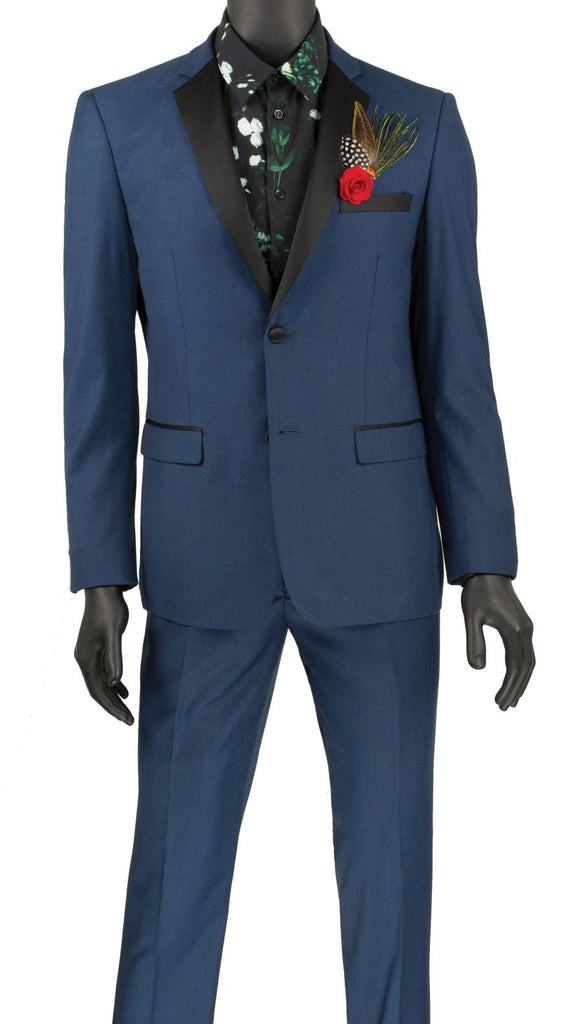 Vinci Men Tuxedo T-US900 Blue - Church Suits For Less