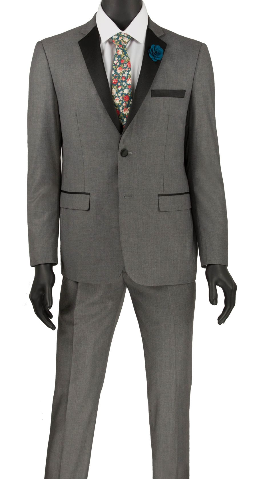 Vinci Men Tuxedo T-US900 Gray - Church Suits For Less