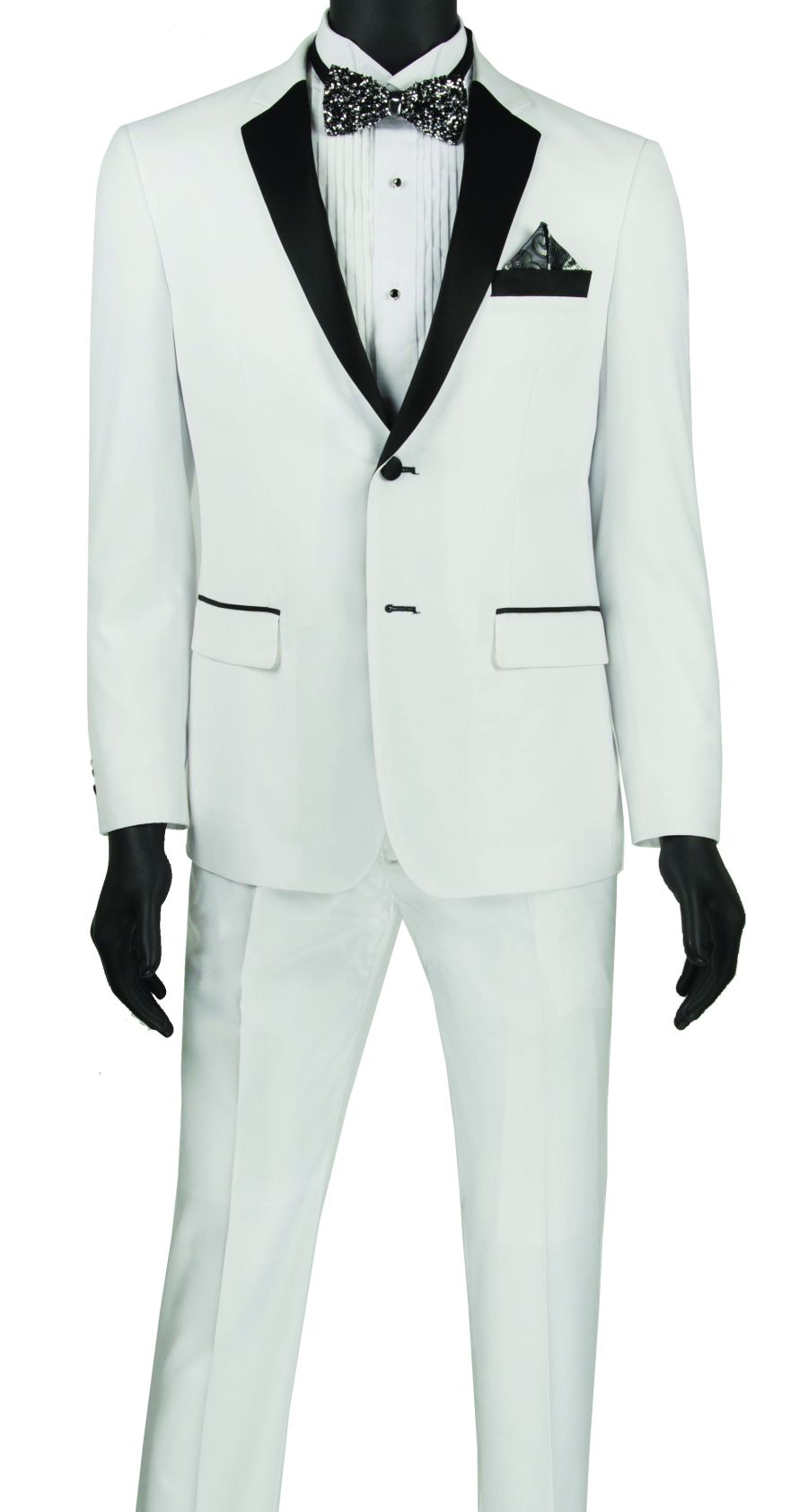 Vinci Men Tuxedo T-US900 White - Church Suits For Less