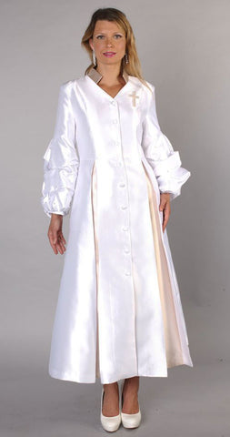 Tally Taylor Church Robe 4730-White/Gold