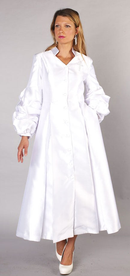Tally Taylor Church Robe 4730-White - Church Suits For Less