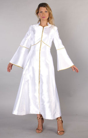 Tally Taylor Church Robe 4731-White/Gold