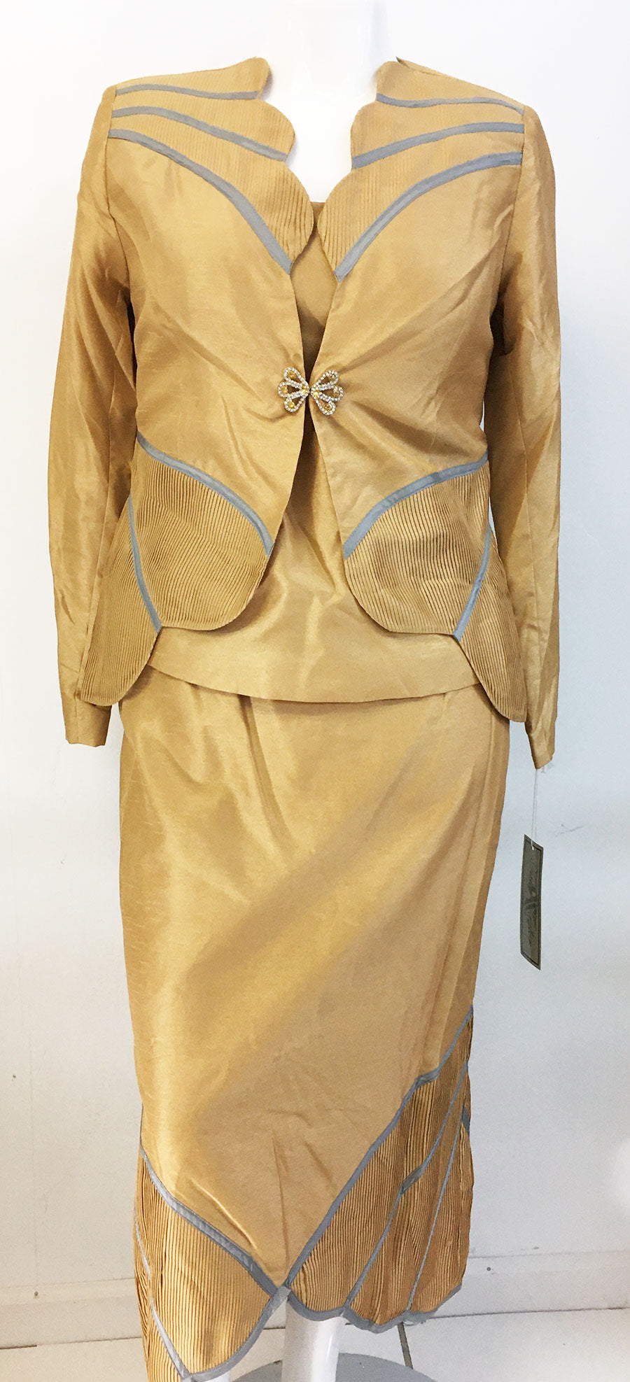 Tally Taylor Suit 4316-Gold - Church Suits For Less