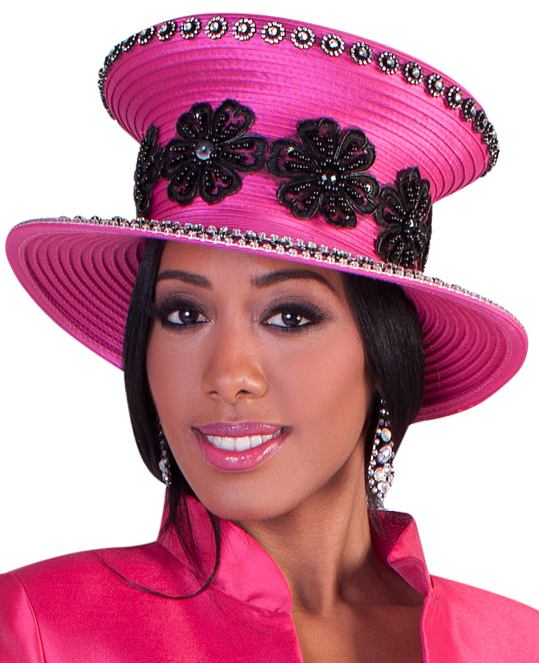 Tally Taylor Hat 4617-Fuchsia - Church Suits For Less