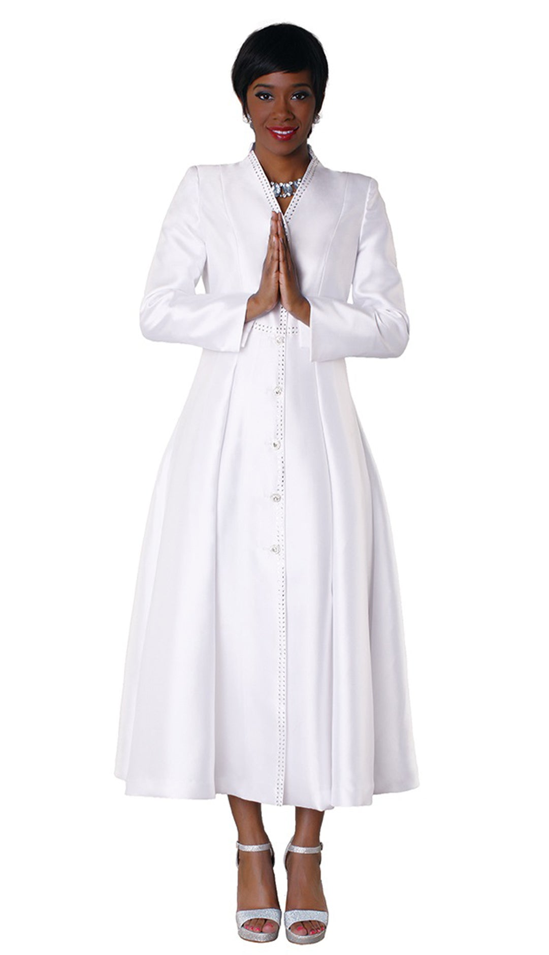 Tally Taylor Robe 4530-White - Church Suits For Less