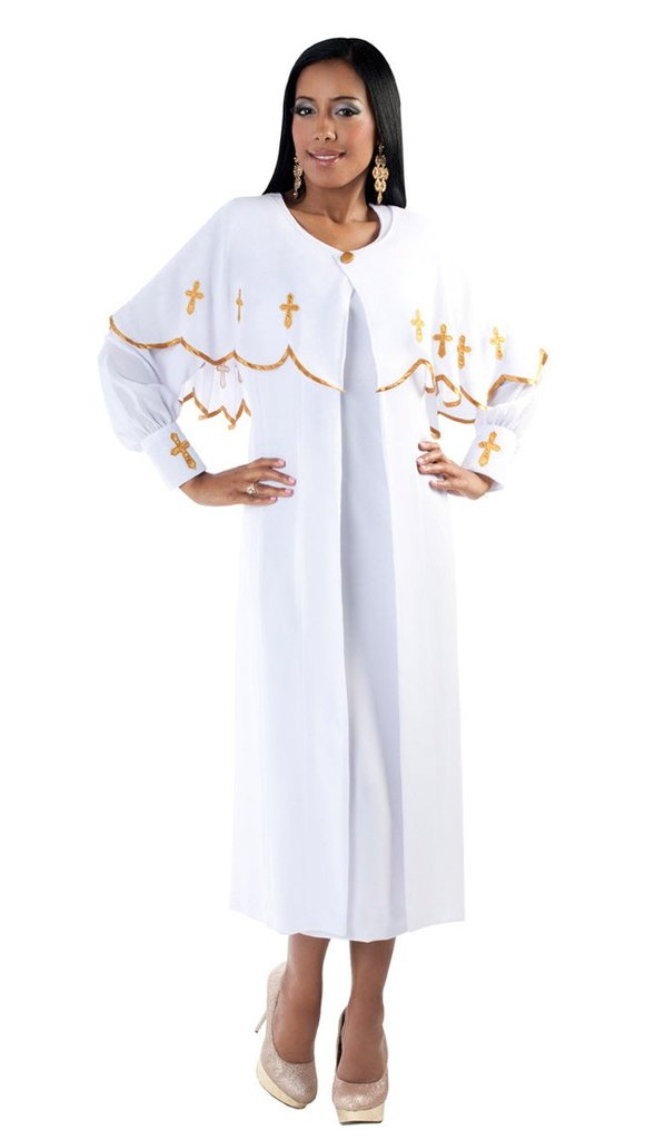 Tally Taylor Dress 3257-White - Church Suits For Less