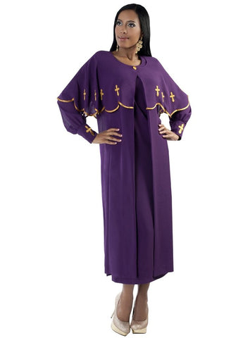Tally Taylor Dress 3257-Purple