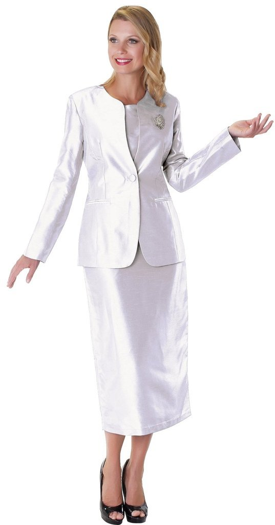 Tally Taylor Suit 4350-White - Church Suits For Less
