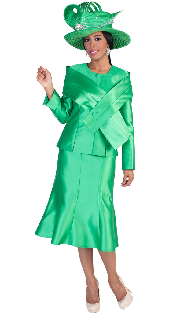 Tally Taylor Suit 4636-Emerald - Church Suits For Less