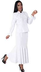 Tally Taylor Church Suit 4601-White/Black - Church Suits For Less