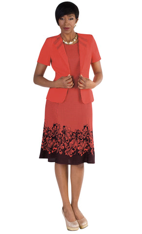 Tally Taylor Dress 9450-Coral/Navy