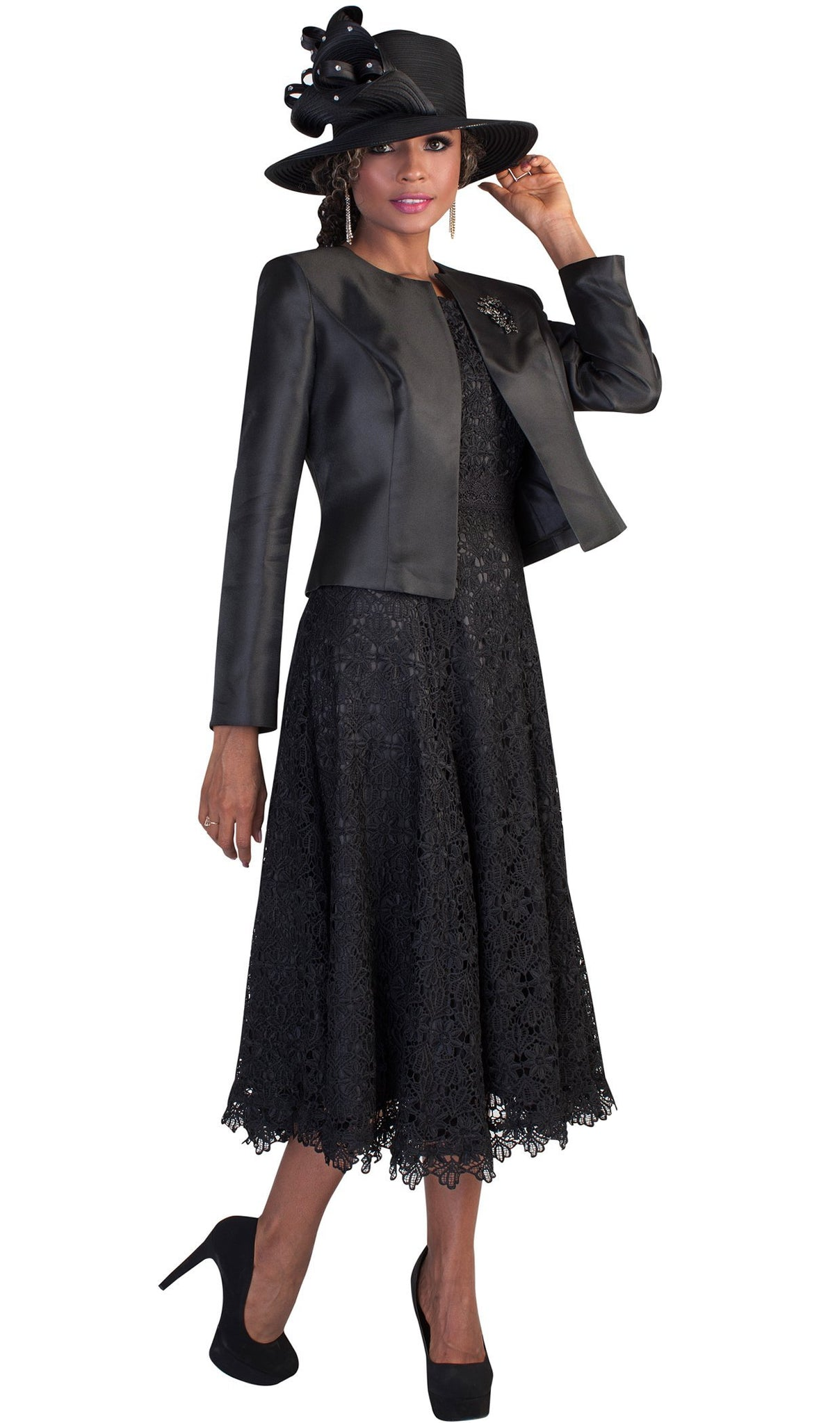 Tally Taylor Dress 4529-Black - Church Suits For Less