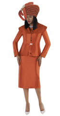 Tally Taylor Suit 4701-Pumpkin - Church Suits For Less