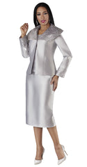 Tally Taylor Suit 4701-Silver - Church Suits For Less