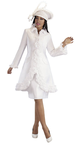 Tally Taylor Dress 4702-White - Church Suits For Less