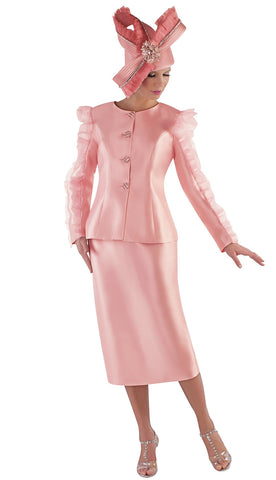 Tally Taylor Suit 4729-Peach - Church Suits For Less