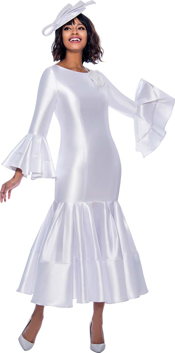 Terramina Dress 7764-White - Church Suits For Less