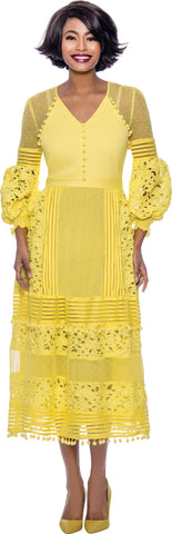 Terramina Dress 7827-Yellow - Church Suits For Less