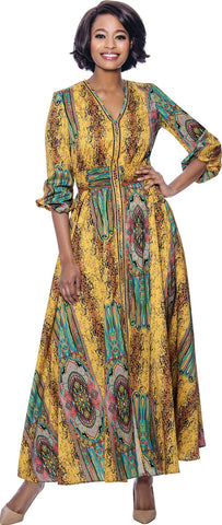 Terramina Dress 7829-Yellow/Multi