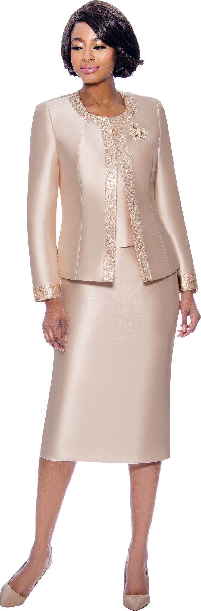 Terramina Suit 7637-Champagne - Church Suits For Less
