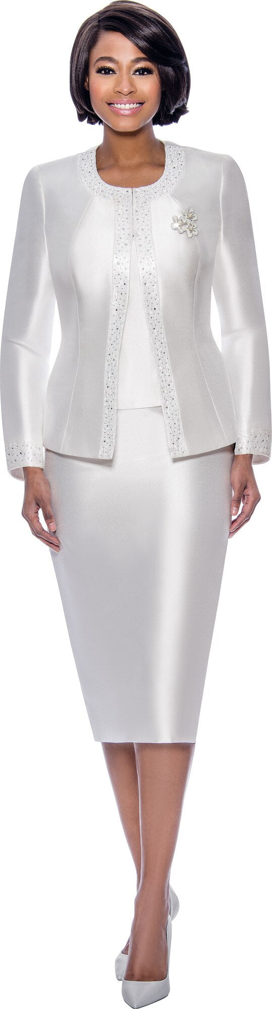Terramina Suit 7637-White - Church Suits For Less
