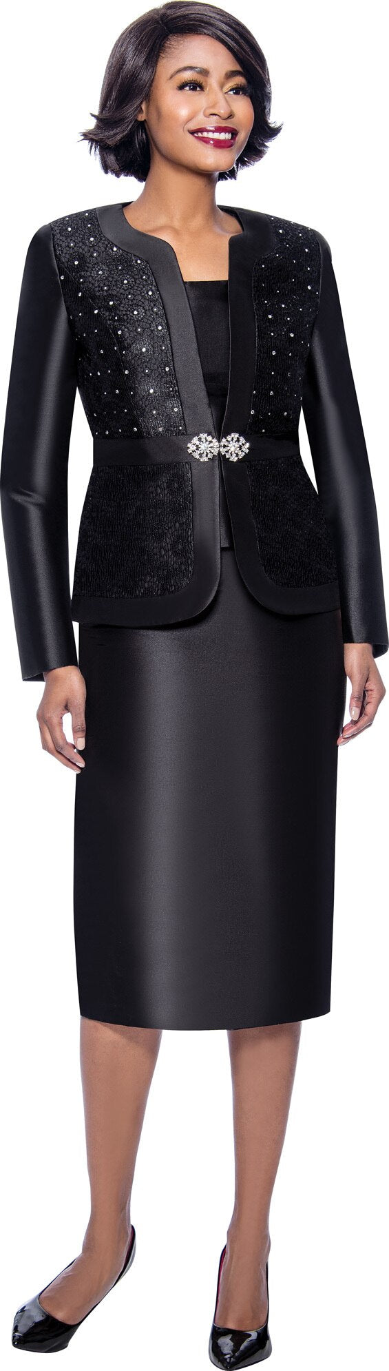 Terramina Suit 7726-Black - Church Suits For Less