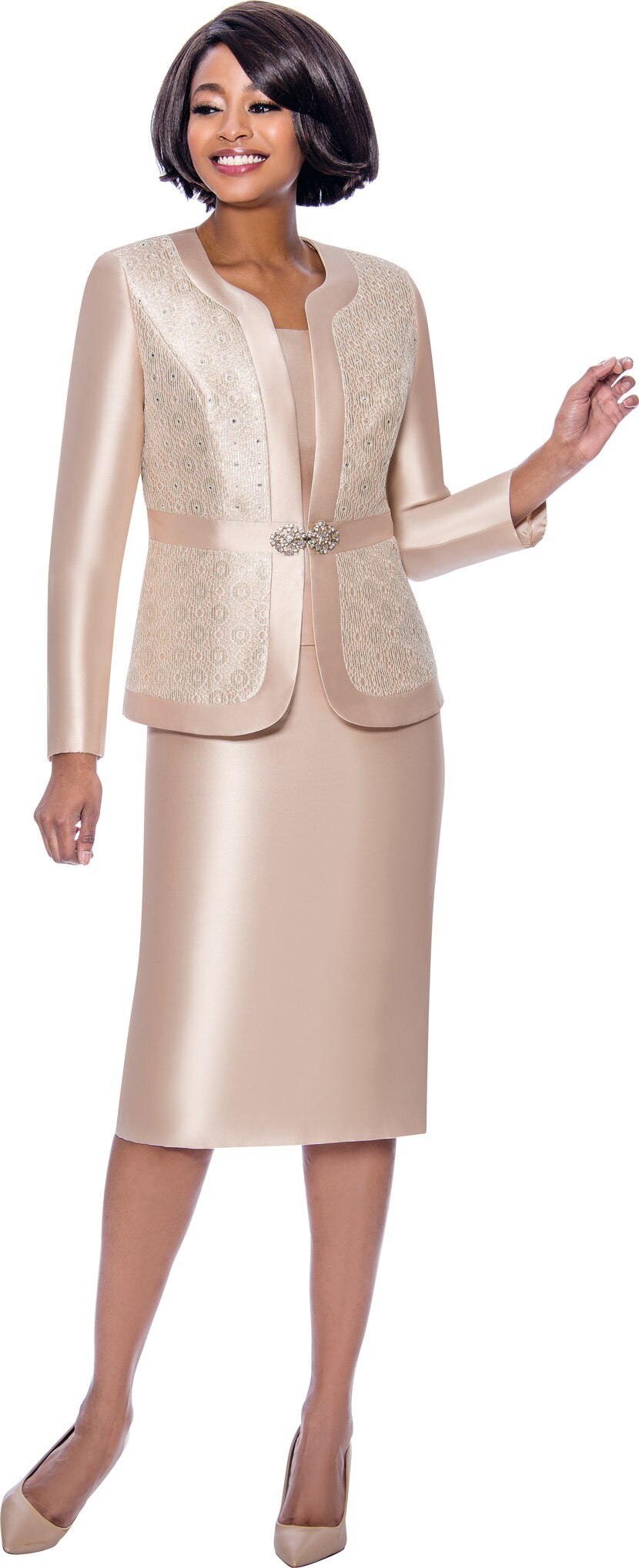 Terramina Suit 7726-Champagne - Church Suits For Less