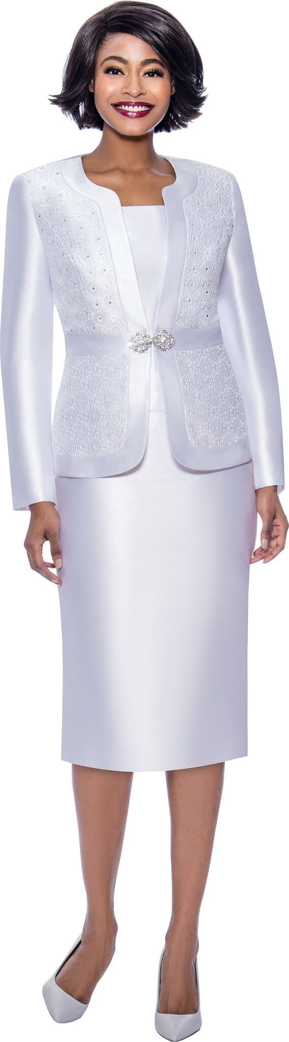 Terramina Suit 7726-White - Church Suits For Less