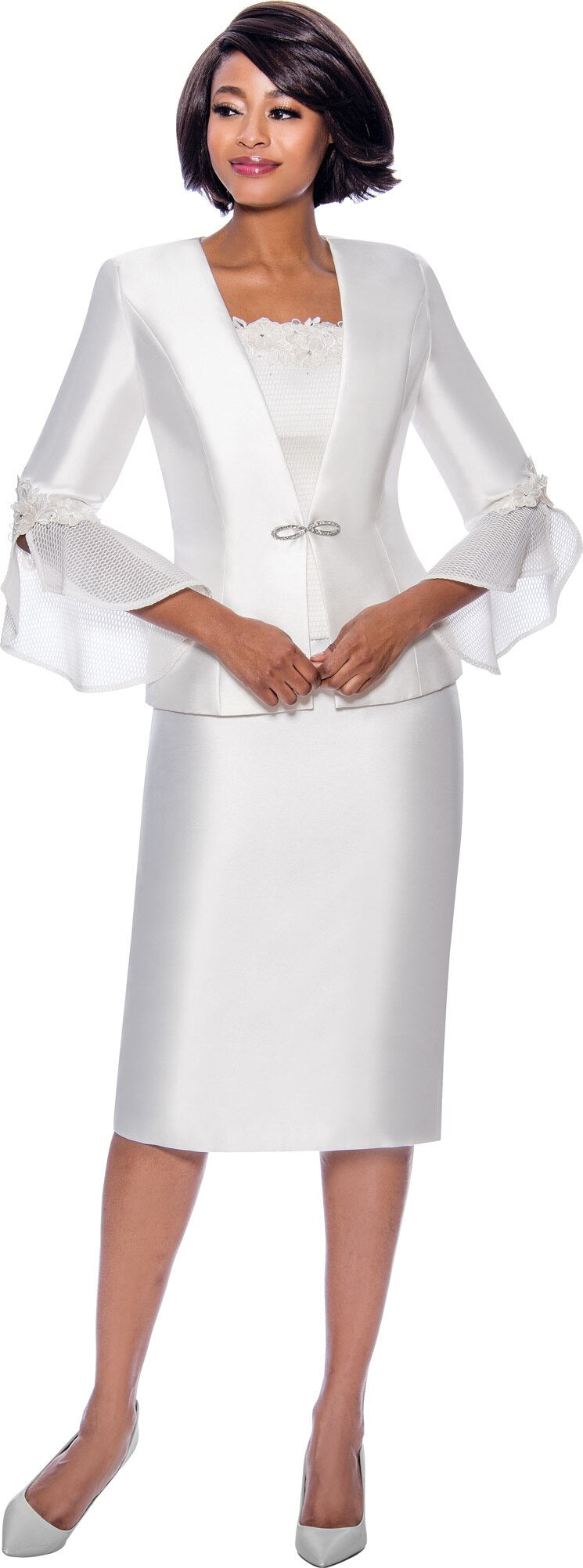 Terramina Suit 7810-White - Church Suits For Less