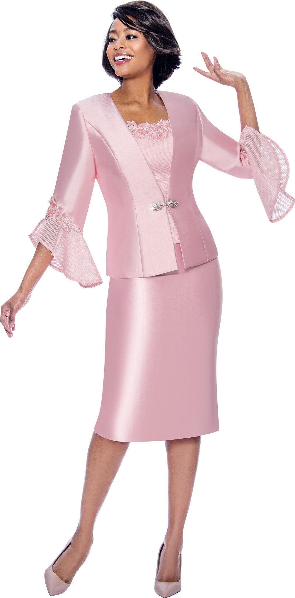 Terramina Suit 7810-Rose - Church Suits For Less