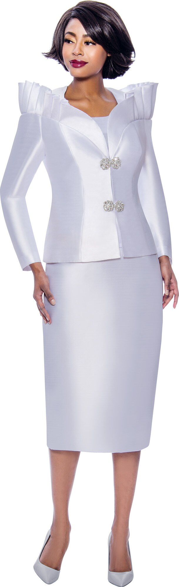 Terramina Suit 7811-White - Church Suits For Less
