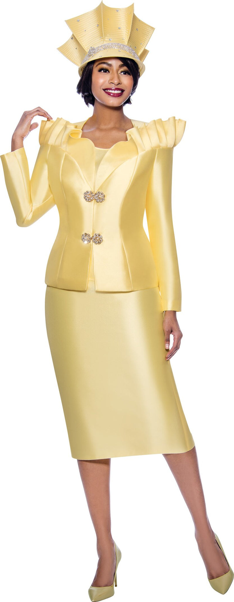 Terramina Suit 7811-Yellow - Church Suits For Less