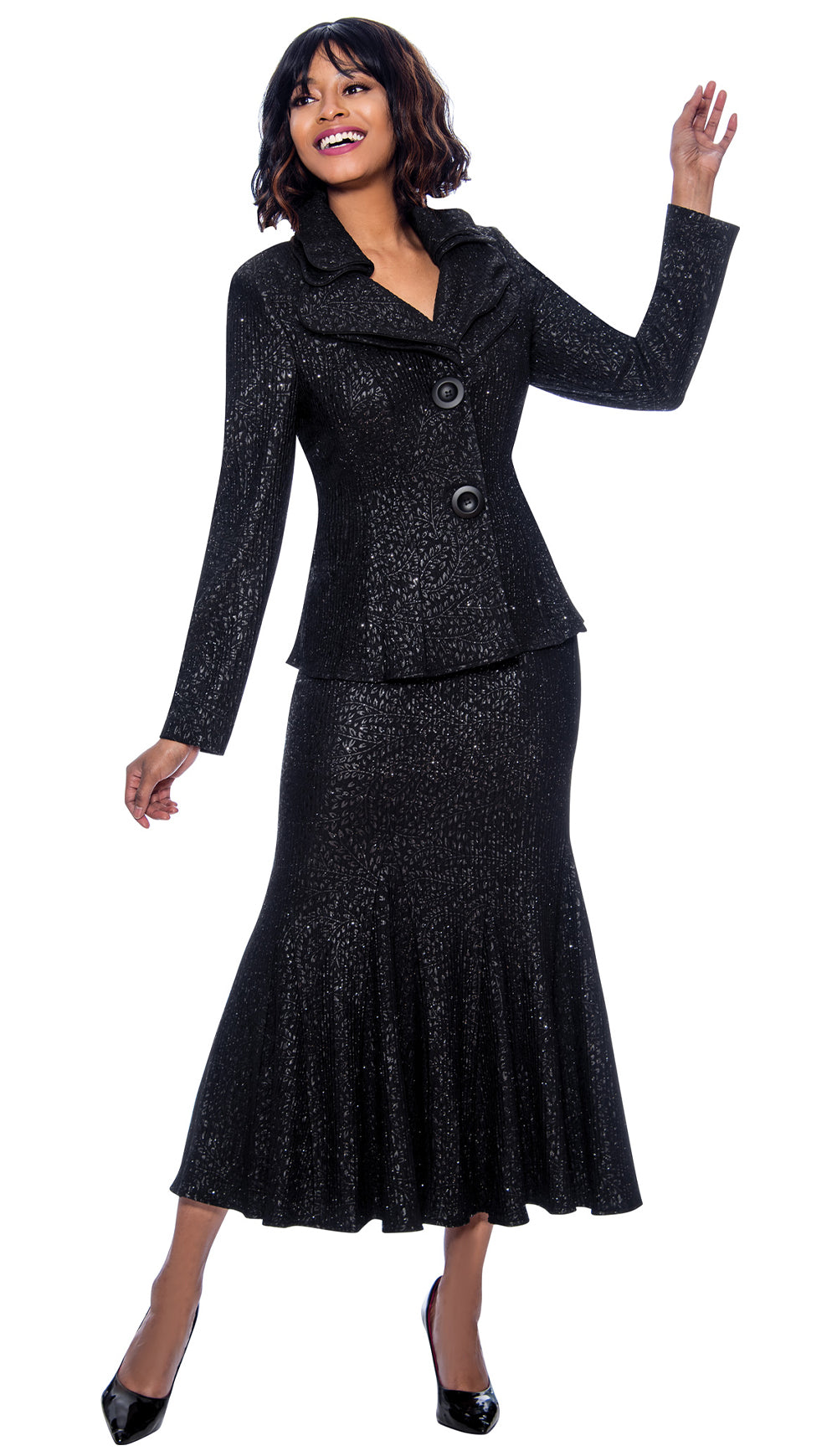 Terramina Suit 7656-Black - Church Suits For Less