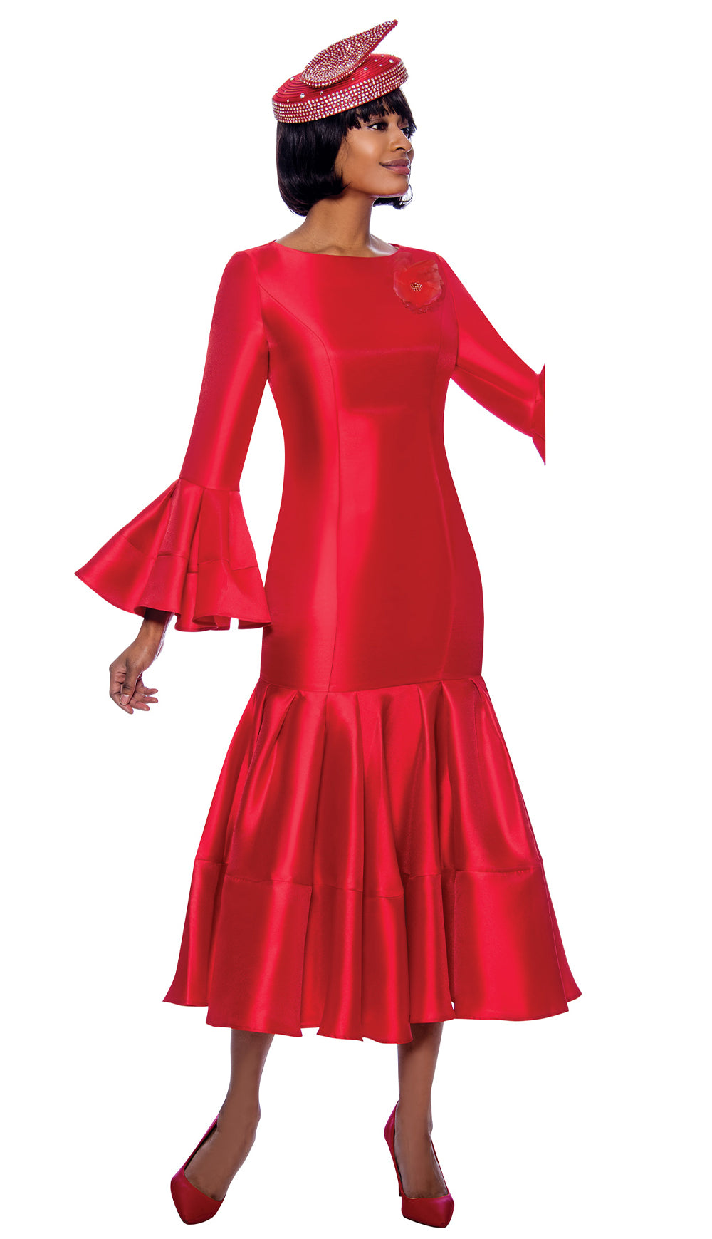 Terramina Dress 7764-Red - Church Suits For Less