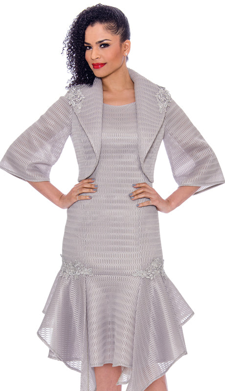 Terramina Dress 7791-Silver - Church Suits For Less