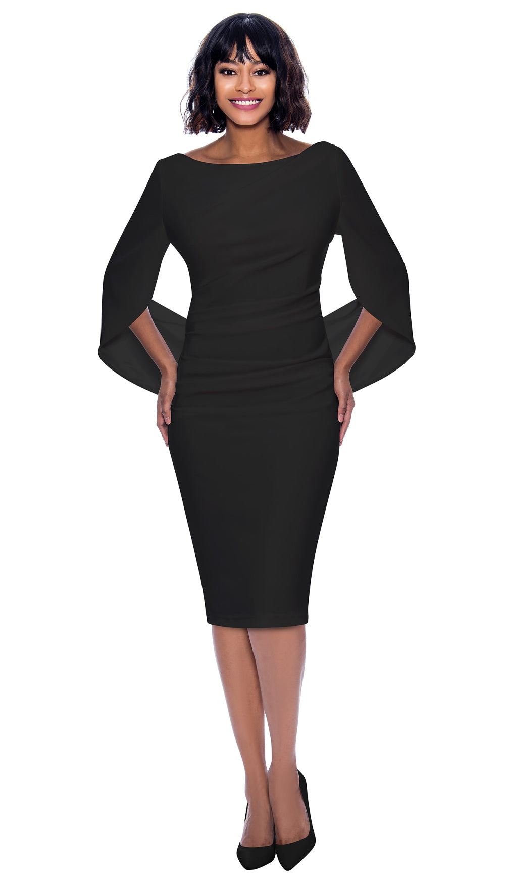 Terramina Dress 7816-Black - Church Suits For Less