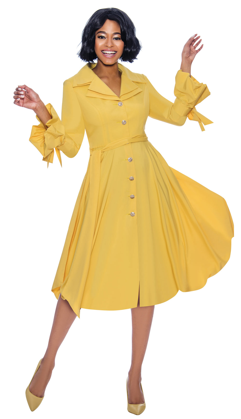 Terramina Dress 7850-Yellow - Church Suits For Less