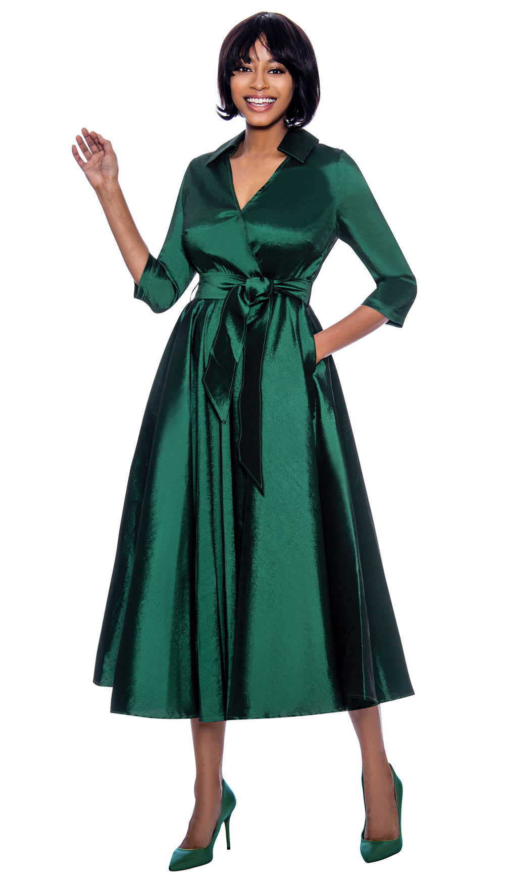 Terramina Dress 7869-Green - Church Suits For Less