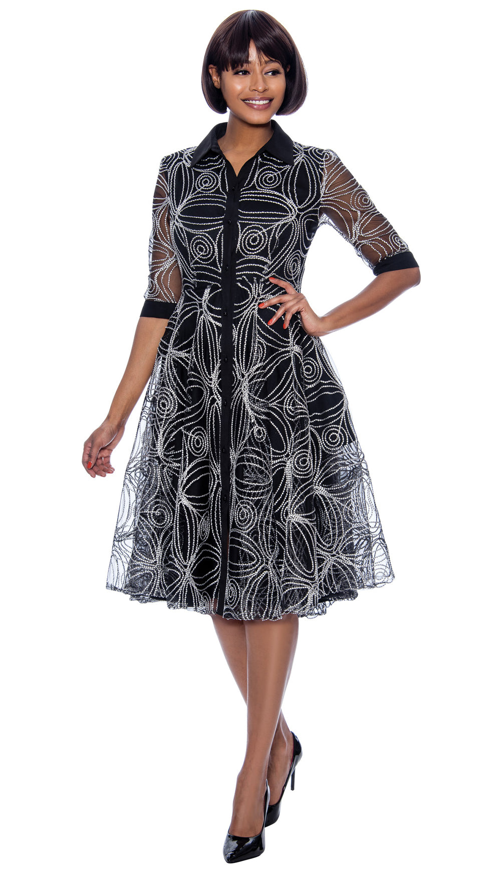Terramina Dress 7883-Black - Church Suits For Less